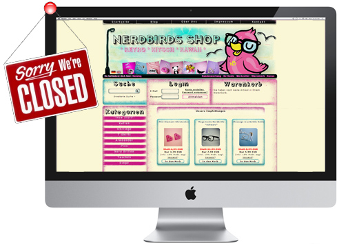Nerdbirds Shop is Closed